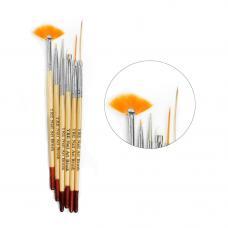 Набор кистей для рисования YRE (деревянная ручка), 6 шт.