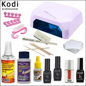 """Стартовый набор гель лаков Kodi """"Оптимальный Diamond"""" (с белой лампой)"""