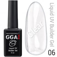 Жидкий гель GGA Liquid Builder Gel №6 (прозрачный), 15 мл