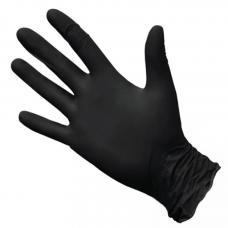 Перчатки нитриловые черные (размер L) 1 пара