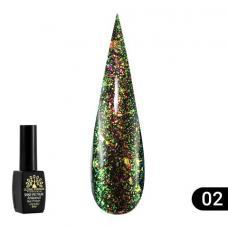 Гель лак Global Fashion Shine Spektrum (блестки) №302