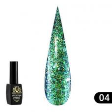 Гель лак Global Fashion Shine Spektrum (блестки) №304