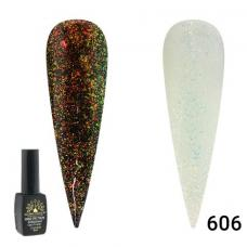 Гель лаки Global Fashion Galaxy Star (мерцающие) №606, 8 мл