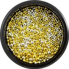 Металлические бульонки разного размера Золото&Серебро