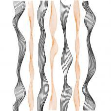 Гибкая волнистая лента для ногтей Бронза&Черный,ширина 0.4 мм