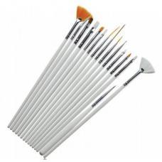 Набор кистей для рисования и наращивания, 15 шт.