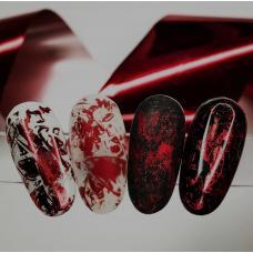 """Фольга для дизайна ногтей """"Красная"""""""