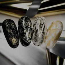 """Фольга для дизайна ногтей """"Белое золото"""""""