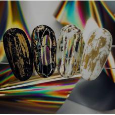 """Фольга для дизайна ногтей """"Золото голографик"""""""