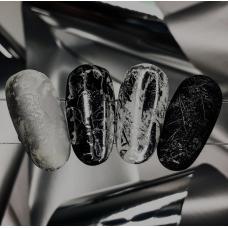 """Фольга для дизайна ногтей """"Серебро"""""""