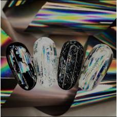 """Фольга для дизайна ногтей """"Серебро голографик"""""""