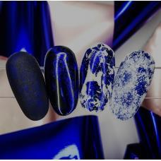 """Фольга для дизайна ногтей """"Синяя"""""""