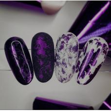 """Фольга для дизайна ногтей """"Фиолетовая"""""""
