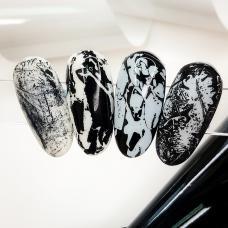 """Матовая фольга для дизайна ногтей """"Белая"""""""