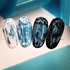 """Матовая фольга для дизайна ногтей """"Голубая"""""""