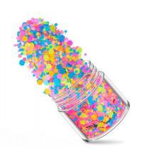 Флуоресцентные 3D хлопья для дизайна ногтей