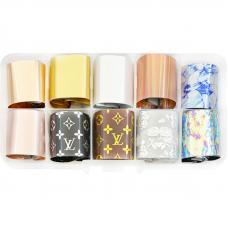 Набор фольги для дизайна ногтей Louis Vuitton, 10шт