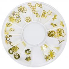 Металлический плоский декор в карусели золото