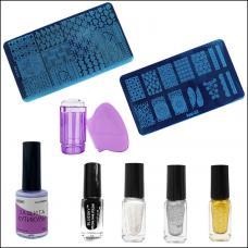 Набор стемпинга для дизайна ногтей №1