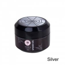 Гель-паутинка Saga Professional Spider Silver (серебро), 8 мл