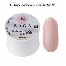 Гель для наращивания SAGA Builder Gel Veil №5 Nude, 15 мл