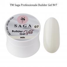Гель для наращивания SAGA Builder Gel Veil №7 Milk,15 мл