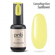 Камуфлирующая база PNB Sunflower (подсолнечник, желтая), 8 мл