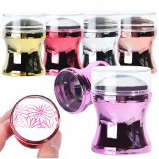 Перламутровая силиконовая печать с скрапером и трафаретом (цвета в ассортименте)