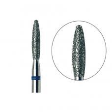Фреза алмазная РОСБЕЛ Пламя с закругленным концом с синей насечкой 025