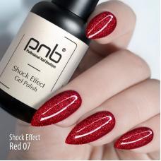 Гель-лак PNB Shock effect 07 (красный, светоотражающий), 8 мл
