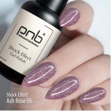 Гель-лак PNB Shock effect 06 (пепельно-розовый, светоотражающий), 8 мл