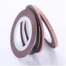 Маникюрная самоклеющаяся сахарная нить для ногтей в рулоне, коралловый песок, 3 мм