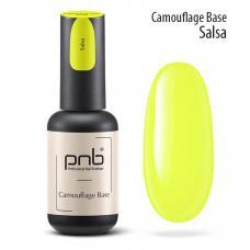 Неоновая каучуковая база PNB Camouflage Base Salsa, yellow, 8 мл