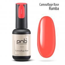 Неоновая каучуковая база PNB Camouflage Base Rumba, coral, 8 мл