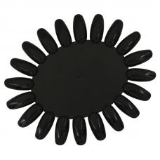 Палитра -ромашка для гель-лаков, черная (20 типс)