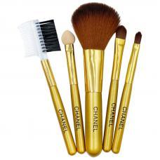 Дорожный набор кистей для макияжа Chanel из 5 кистей (цвет в ассортименте)
