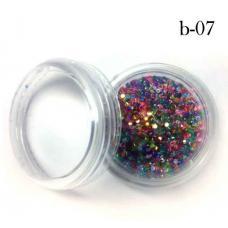 Украшение для дизайна ногтей брокард пластик №7(мелкий цветной)