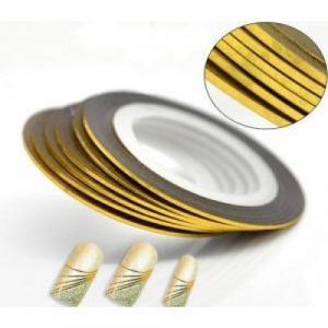 Маникюрная самоклеющаяся нить для дизайна ногтей золото,ширина 0,8мм