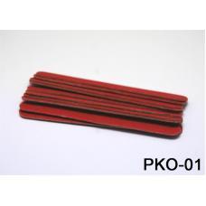 Одноразовая Пилочка 10 см красная (10 шт)