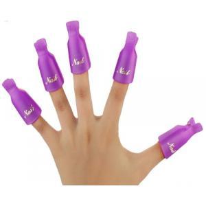 Зажимы пластиковые (клипсы, прищепки) для снятия гель-лака 5 шт.